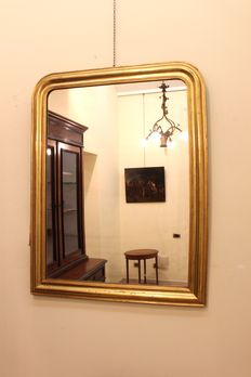 Gilded mirror, Louis XVI style - France - half of the 19th century