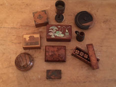 Wooden Items including boxes and turned items