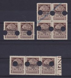 Italy 1930 – Italian Colonies Egeo – XXI Congress Hydrological Cent. 50 Variety – Sassone n°. 178 MNH Variety