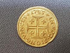 "Portugal – 400 Reis, ""Pinto"", year 1725 – D. John V – Gold."