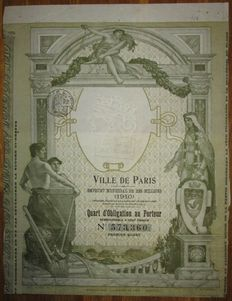 France - Ville de Paris / City of Paris - DECO Obligation 1910