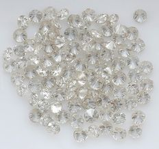 95 Round Brilliant Diamonds – 1.37 ct.