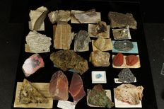 Minerals Collection with old labels - 1,5cm to 12cm - 3,2kg (23)