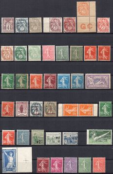 France 1877/1931 – Set of 75 stamps between Yvert n° 88 and 274