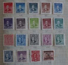 World – double batch in three old A5 format selection issues, i. a. with British Colonies, PR of China and Dutch East Indies