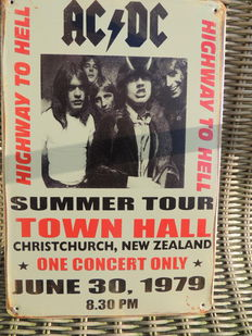 AC/ DC - Concert  - Summer Tour Town Hall - 1979