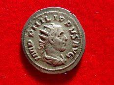 Roman Empire - Philip I the Arab (244–249 A.D.). silver antoninianus (4,20 g. 24 mm.) from Antioch mint, 244-247 A.D. ROMAE AETERNAE.
