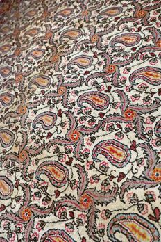 Breathtaking semi-antique Boteh Ghom Persian rug - 207x140 - collector's item - with certificate