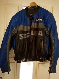 "SEGURA bike jackes ""grand prix collection 500cc"" black blue year 2001 ""taille L"""