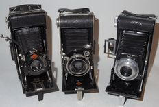 3 x Agfa Billy - bellows cameras - '30s-'50s