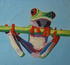 streetartist –  Frog - giant size painting