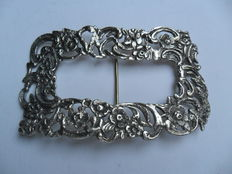 Large silver buckle, Netherlands, 19th century