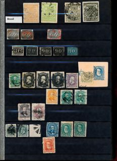 Brazil 1849/2000 - Collection in stock book + 30 FDC's/letters