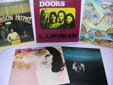 The Doors lot of 6 classic lp's, The Doors, LA Woman, Morrison Hotel, The Soft Parade, Full Doors Circle and Weird Scenes Inside The Gold Mine.