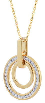 No reserve price brand new circle diamond pendant. 0.25ct total weight, G colour and SI clarity diamonds. Set in 18kt yellow gold.