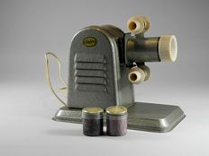 Clairo projector, with two films including Donald Duck, around 1950
