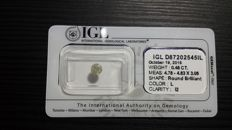 BRILLIANT CUT DIAMOND OF 0.48 CT, COLOUR L, I2 LOW RESERVE PRICE