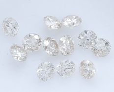 12 Round Brilliant Diamonds – 1.02 ct