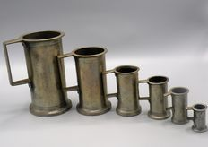 6 calibrated sizes - Tin - Spain - 19th century
