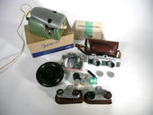 Siehe unsere Mikroma stereo camera, cutting device, close-up lenses and many accessories
