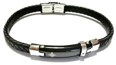 ESSENZA – new bracelet in 316L steel with black diamond