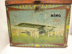 Storage tin King with images