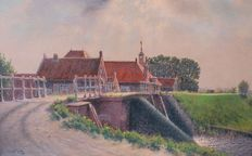 Jacobus Leonarus Van Der Meide (1910-2002) - Hollands landschap
