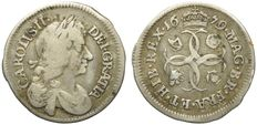 United Kingdom, 1679—Silver Groat (4 pence worth)—Charles II
