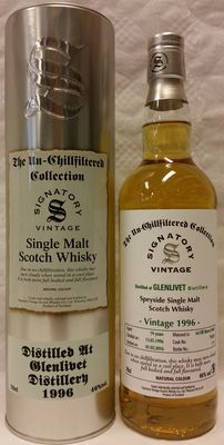"""Glenlivet 19 years old 1996 from """"The Un-Chillfiltered Collection"""" by Signatory Vintage"""