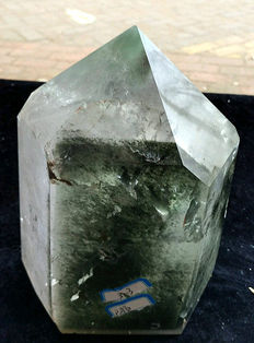 Beautiful Chlorite Rhinestone point - Brazil - 200 x 100 x 90 mm - 3.3 kg