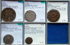 Italia – five coins, 17th–20th centuries (including silver)