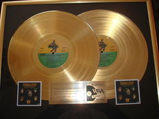 """The Rolling Stones : Double """"Rolled"""" Plated Gold Award"""