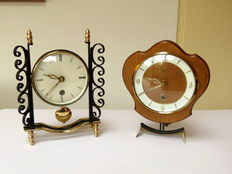 Lot of 2 table clocks with pendulum - Orfac - 1950s/1960s