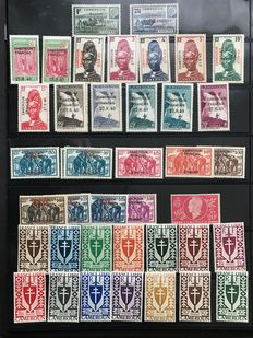 Cameroon French Ex-Colonies before and after independence 1925/2000 - Large collection of 1000 stamps with taxes and air mail