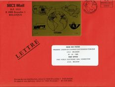 Belgium 1985 – First public electronic courier connection FDC