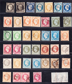 France 1849/1870 - Collection of 40 Classical stamps between Yvert n° 3 and 33