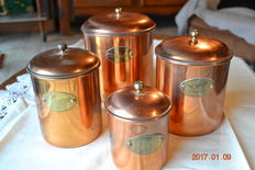 Lot of 4 spice pots