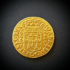 Portugal – Quartinho (coin designation) 1200 Réis (face value) – 1722 – D. João V
