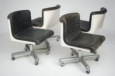 "Ettore Sotsas  & Hans von Klier for Design Center -    -  chair ""Progress "" ( 4x )"