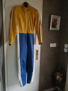 Racing motorbike or car suit from the 1970s