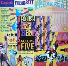 UK 1960's Beat / Garage - English Freakbeat Volumes 1-5 (Archives International Productions 1988-1992) - US press