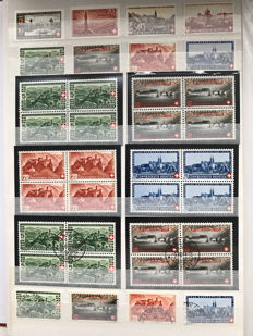 Switzerland 1915/1961 - extensive  collection, including blocks in stock book.