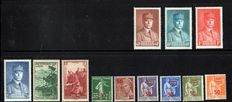 France 1940/1958 - Collection of stamps including incomplete series of non-issued stamps from London
