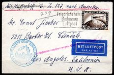 German Empire/Reich 1931 - dirigible letters - 4 RM on a letter for the first America circuit LZ 127 - Michel 424