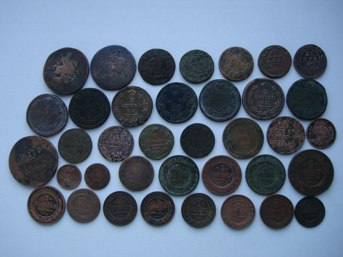 Russian\USSR - 89 Various Coins