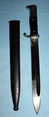 Parade model Seitengewehr/Dolch K 98, long model Germany, with sheath, -in good condition, Maker: E & F Hörster  Solingen, w.o.2
