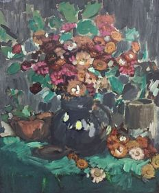Unknown (20th century) -   Vaas met Bloemen