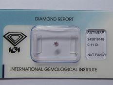 Natural fancy  pink diamond 0.11 ct  with IGI Certificate ***No minimum price***