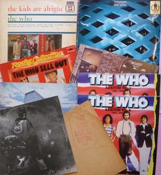 Great set of classic albums by The Who, 9 albums, 11 lp's; The Kids Are Alright, Tommy(2), Quadrophenia (2), Who's Next, Sell Out, Live at Leeds (complete) etc.