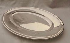 Christofle - Large Silver-plated Oval Serving Platter, Made in France